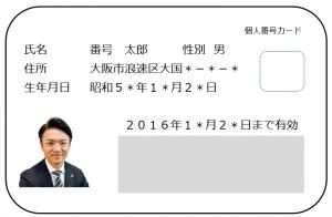 大阪の社会保険労務士顧問_マイナンバーカード表