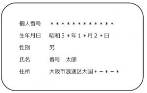 大阪の社会保険労務士顧問_通知カード